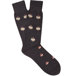 Paul Smith - Polka-Dot Mercerised Cotton-Blend Socks