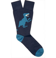 Paul Smith - Dinosaur Stretch Cotton-Blend Socks