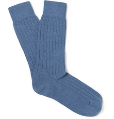 Sunspel - Ribbed Cashmere Bed Socks