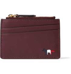Maison Kitsuné Zipped Leather Cardholder
