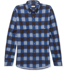 Camoshita - Button-Down Collar Checked Cotton Oxford Shirt