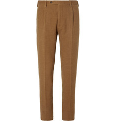 Camoshita Tan Camel and Cotton-Blend Corduroy Suit Trousers