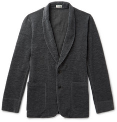 Camoshita - Brushed Wool-Blend Shawl-Collar Cardigan