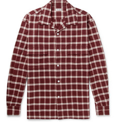 Camoshita - Checked Cotton-Flannel Shirt