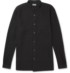Camoshita - Grandad-Collar Cotton-Blend Twill Shirt