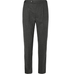 Camoshita - Wool-Blend Flannel Trousers