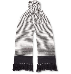 MP Massimo Piombo Striped Wool Scarf