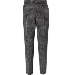 Oliver Spencer Fishtail Houndstooth Wool Trousers