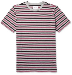 Albam Mélange Striped Cotton-Jersey T-Shirt