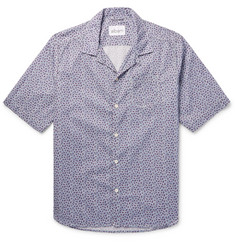 Albam Panama Camp-Collar Printed Cotton-Poplin Shirt