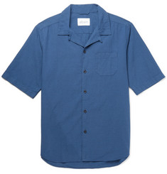 Albam Panama Camp-Collar Cotton Shirt