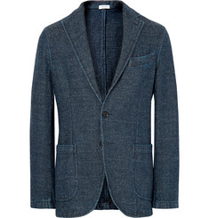 Eidos - Indigo Slim-Fit Unstructured Herringbone Denim Blazer