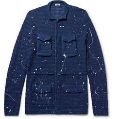 Eidos - Paint-Splattered Cotton Cardigan
