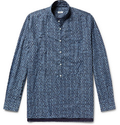 Eidos - Indigo-Dyed Printed Cotton Shirt