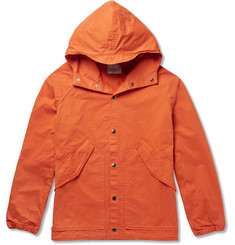 Albam Washed-Cotton Hooded Parka