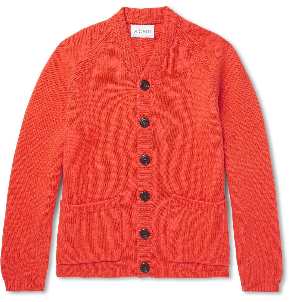 Wool-blend Cardigan - Orange