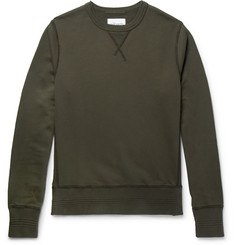 Albam Garment-Dyed Loopback Cotton-Jersey Sweatshirt