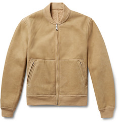 Todd Snyder Reversible Shearling Bomber Jacket