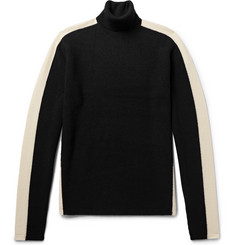Todd Snyder Two-Tone Merino Wool Rollneck Sweater
