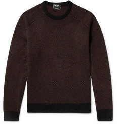 Todd Snyder Slim-Fit Herringbone Intarsia Cashmere Sweater