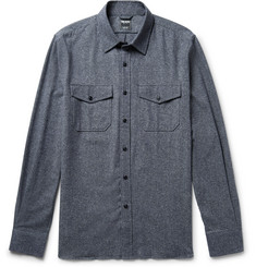 Todd Snyder - Mélange Silk, Cotton, Wool and Cashmere-Blend Shirt