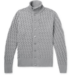 S.N.S. Herning Stark Textured-Knit Wool Cardigan