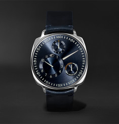 Ressence - Type 1 Squared Mechanical 40mm Stainless Steel and Leather Watch