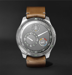 Ressence - Type 5G Mechanical 46mm Titanium and Leather Watch