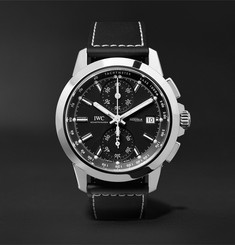 IWC SCHAFFHAUSEN - Ingenieur Chronograph Sport 44mm Titanium and Leather Watch