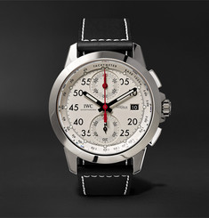 IWC SCHAFFHAUSEN - Ingenieur Chronograph Sport 44.3mm Titanium and Leather Watch