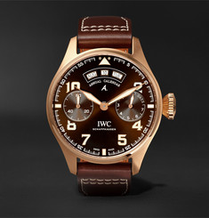 IWC SCHAFFHAUSEN - Big Pilot's Antoine de Saint-Exupéry 46mm 18-Karat Red Gold and Leather Watch