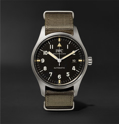 IWC SCHAFFHAUSEN Limited Edition Pilot's Mark XVIII 40mm Stainless Steel and Webbing Watch