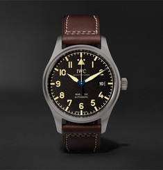 IWC SCHAFFHAUSEN Pilot's Mark XVIII Heritage Titanium and Leather Watch