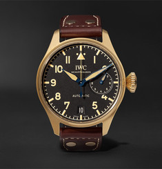 IWC SCHAFFHAUSEN - Limited Edition Big Pilot's Heritage 46mm Bronze and Leather Watch
