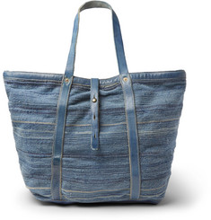 RRL - Leather-Trimmed Canvas Tote Bag