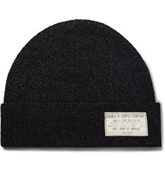 RRL - Indigo-Dyed Ribbed Cotton Beanie