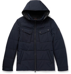 Tod's Leather-Trimmed Quilted Shell Hooded Jacket