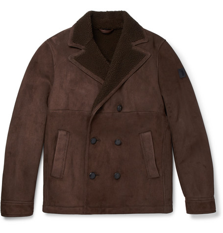 Shearling Peacoat - Chocolate