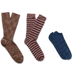 Missoni Three-Pack Cotton-Blend Socks