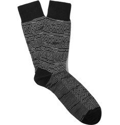 Missoni - Jacquard-Knit Wool and Cotton-Blend Socks