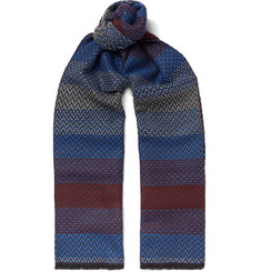 Missoni - Zigzag-Patterned Wool-Jacquard Scarf