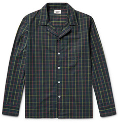 Sleepy Jones - Henry Contrast-Tipped Checked Cotton Pyjama Shirt