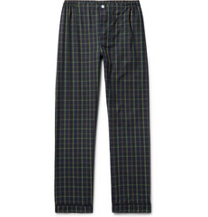Sleepy Jones Marcel Contrast-Tipped Checked Cotton Pyjama Trousers