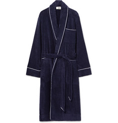 Sleepy Jones - Altman Contrast-Tipped Cotton-Terry Robe