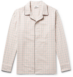 Sleepy Jones - Henry Piped Checked Cotton Pyjama Shirt