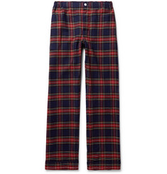 Sleepy Jones - Marcel Piped Checked Cotton Pyjama Trousers