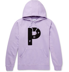 Pop Trading Company Big P Printed Fleece-Back Cotton-Jersey Hoodie