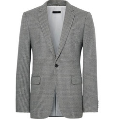 CALVIN KLEIN 205W39NYC Grey Slim-Fit Houndstooth Virgin Wool Blazer