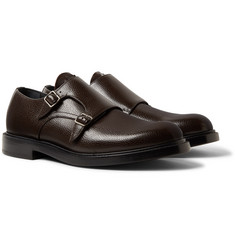 CALVIN KLEIN 205W39NYC - Pebble-Grain Leather Monk-Strap Shoes