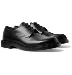 CALVIN KLEIN 205W39NYC Pebble-Grain Leather Derby Shoes